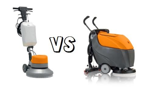 Điểm giống và khác nhau giữa máy chà sàn đơn và máy chà sàn liên hợp