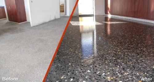 Cách làm sàn xi măng bóng