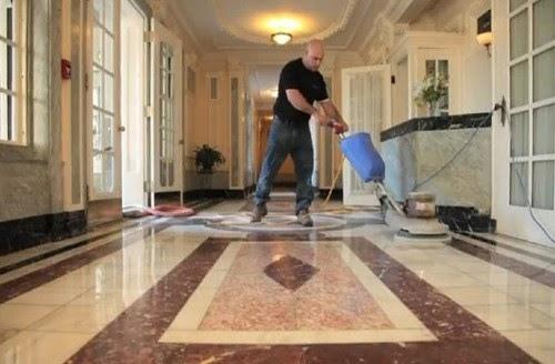 Đánh bóng sàn đá marble