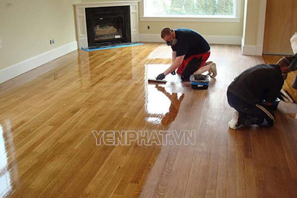 Đánh bóng sàn gỗ tự nhiên tại nhà