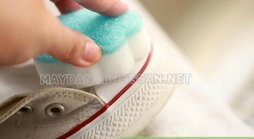 Cách làm trắng giày converse