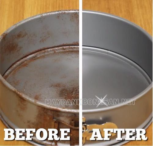Cách tẩy vết rỉ sét trên kim loại