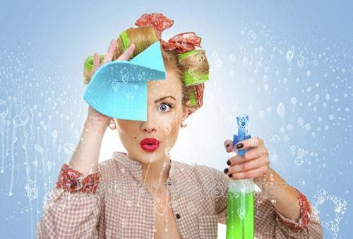 Lau kính bằng nước rửa chén