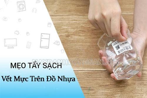 Cách tẩy sạch vết mực trên đồ nhựa