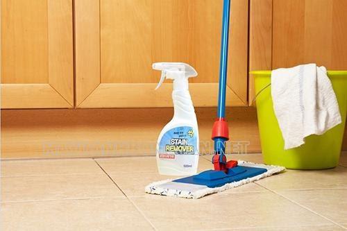 Cách tẩy keo dính chuột trên sàn nhà